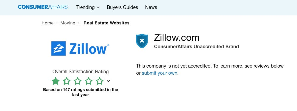 zillow overall satisfaction