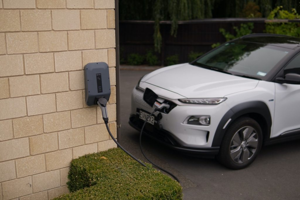 ev charging station with car park