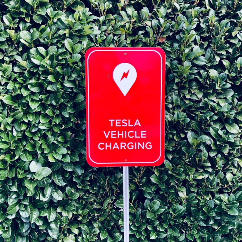 tesla vehicle charging station